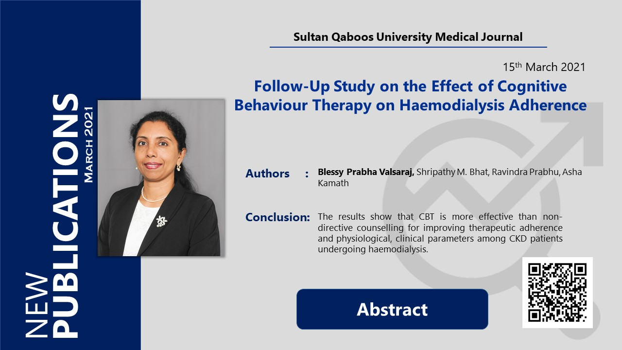 Follow-Up Study on the Effect of Cognitive Behaviour Therapy on Haemodialysis Adherence