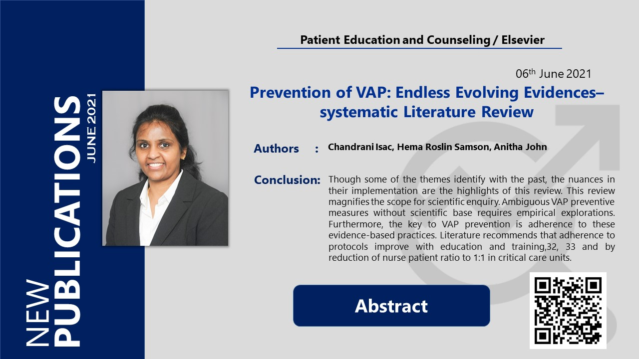 Prevention of VAP: Endless Evolving Evidences–systematic Literature Review