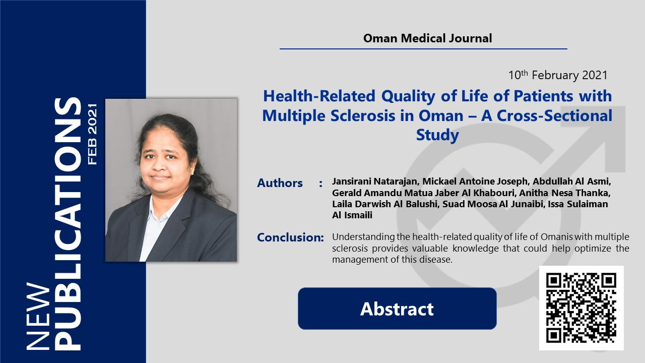 Health-Related Quality of Life of Patients with Multiple Sclerosis in Oman – A Cross-Sectional Study