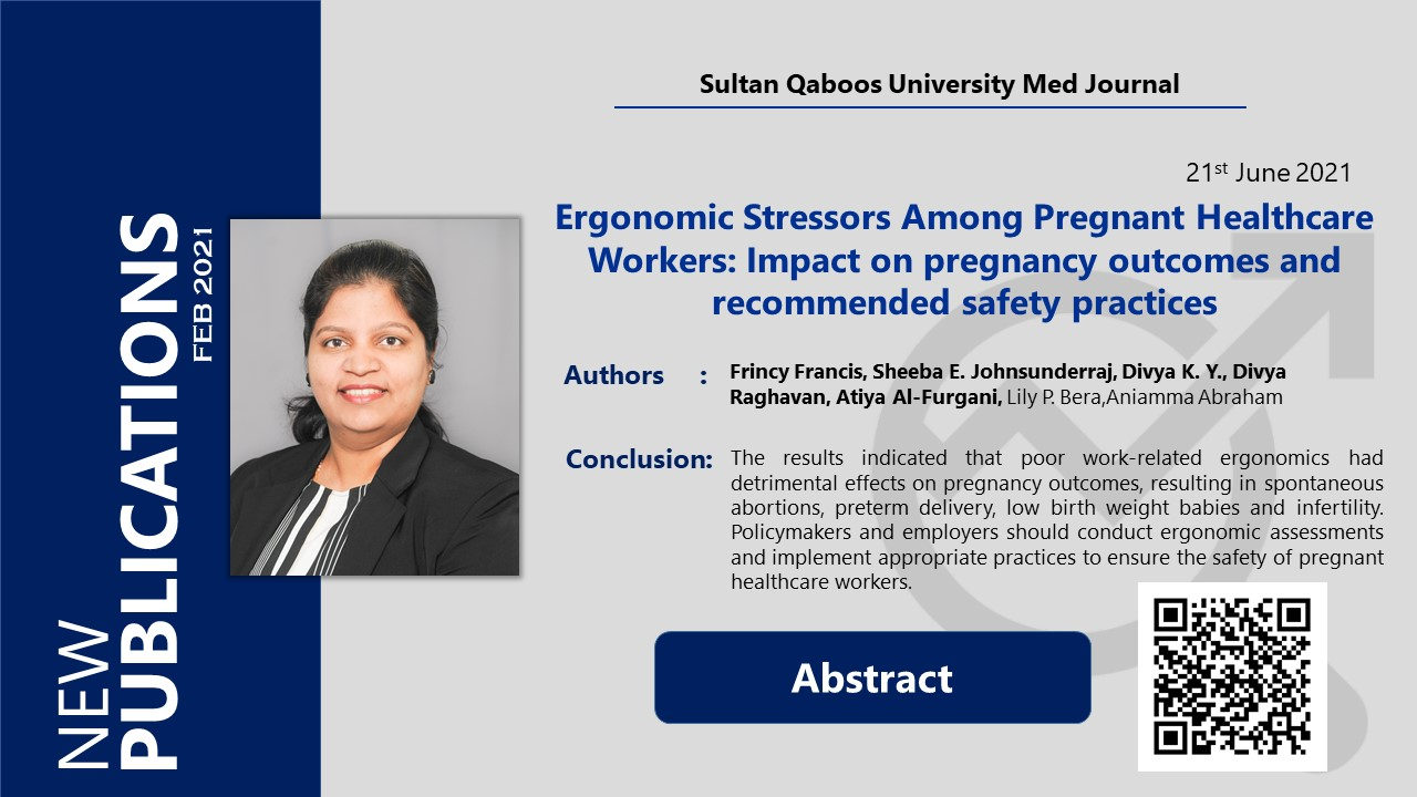 Ergonomic Stressors Among Pregnant Healthcare Workers: Impact on pregnancy outcomes and recommended safety practices