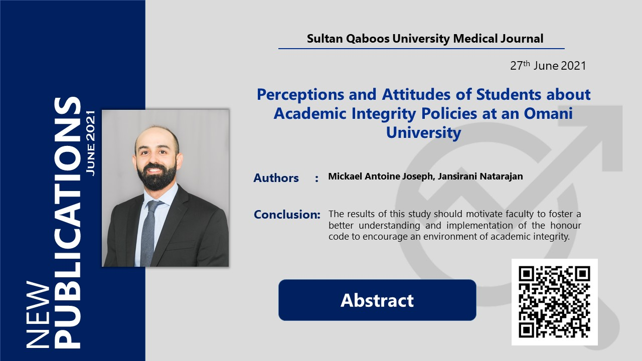 Perceptions and Attitudes of Students about Academic Integrity Policies at an Omani University