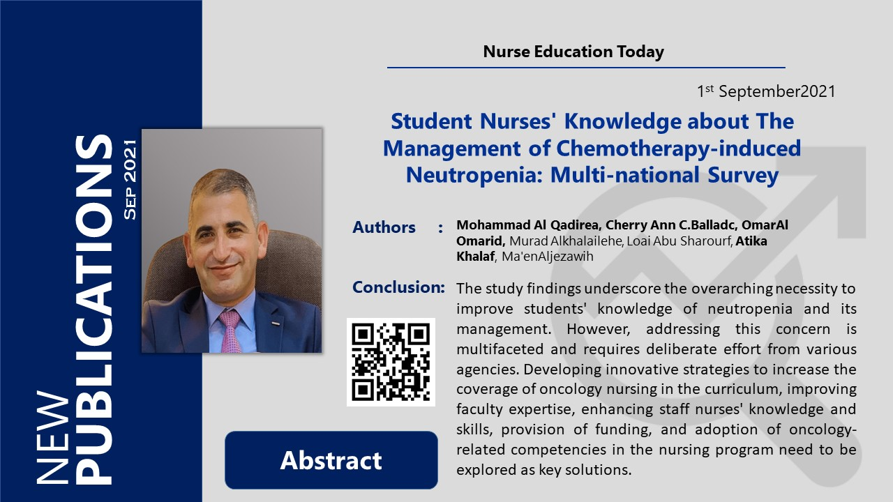Student Nurses' Knowledge about The Management of Chemotherapy-induced Neutropenia: Multi-national Survey