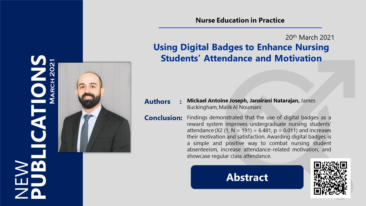 Using Digital Badges to Enhance Nursing Students' Attendance and Motivation