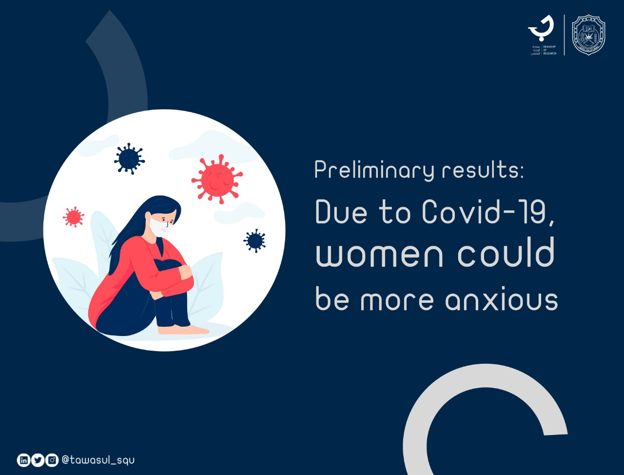 Preliminary results: Women are more likely to be anxious due to Covid 19