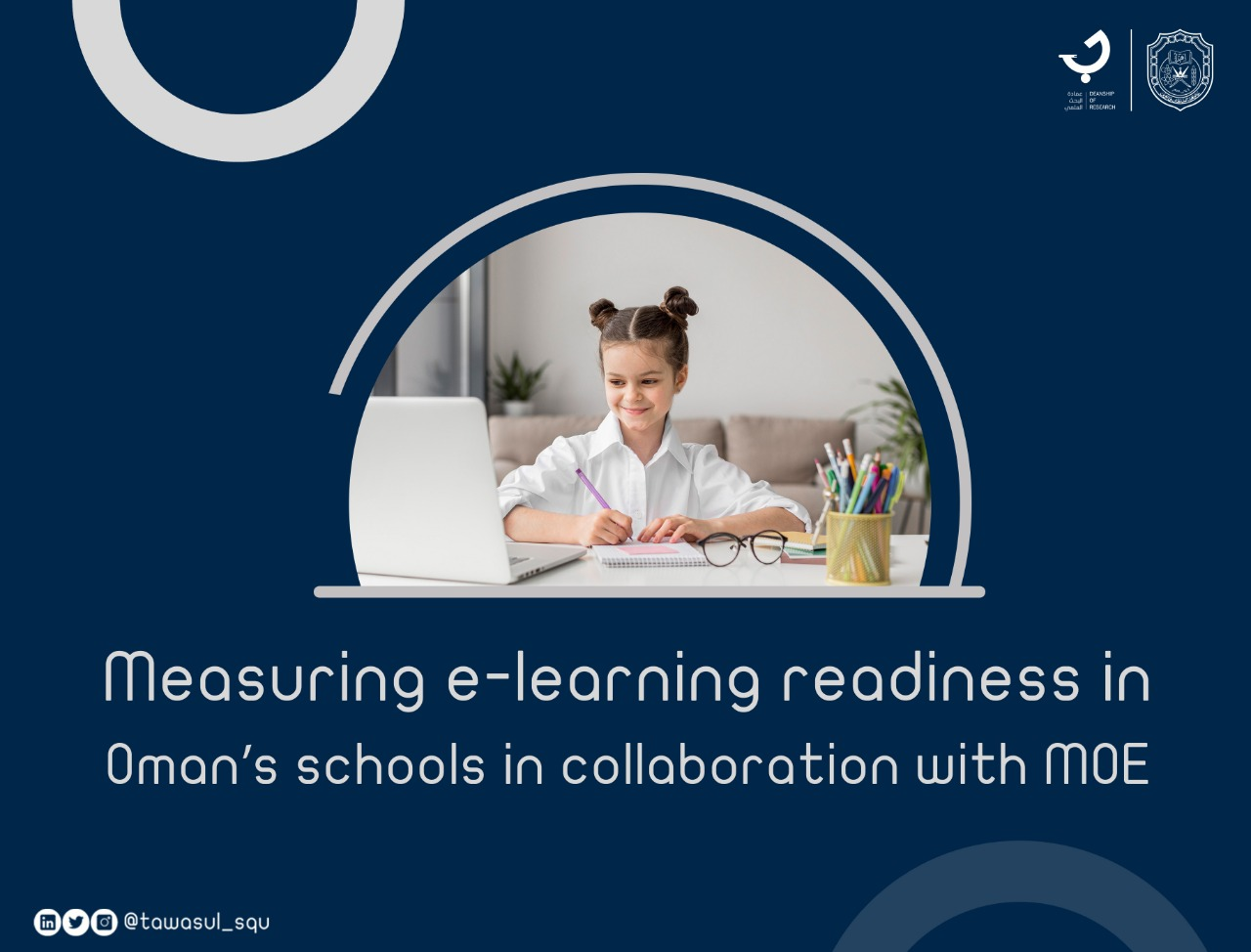 Measuring e-learning readiness in Oman's schools in collaboration with MOE