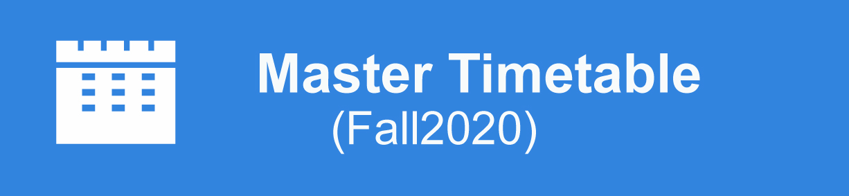 master timetable Fall 2020